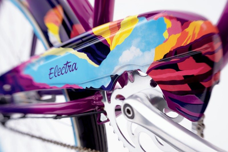 Electra cruiser Amethyst Fade detail