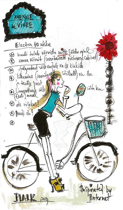 naisjalgratturi 7 käsku