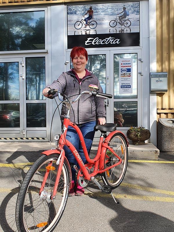 Electra jalgrattaloosi võitja Tiina